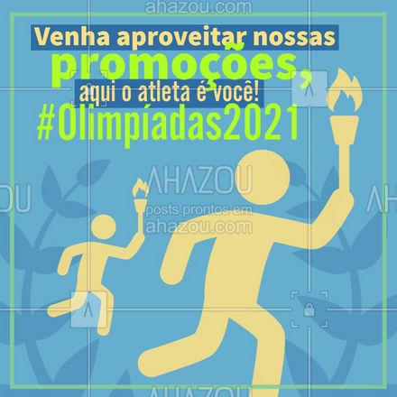 Nossos atletas, com certeza, irão trazer a tão sonhada medalha de ouro para casa. Enquanto isso você aproveita para conferir nossas promoções. ? #ahazou #olimpiadastokyo #esporte #atleta #jogosolimpicos #toquio #combos