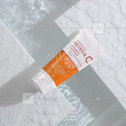 O Esfoliante enzimático com vitamina C nano encapsulada, elimina as células mortas sem agredir a pele, remove progressivamente os cravos, uniformiza a textura e estimula a renovação da pele. Além de penetrar profundamente nos poros. Esse lançamento vai revolucionar a sua rotina de cuidados.Experimente!  #AbelhaRainha #Pele #SkinCare #VitaminaC [ #Esfoliante #ahazouabelharainha #ahazourevenda
