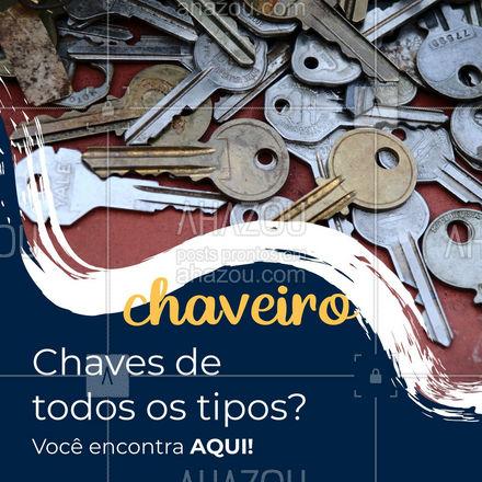 Chaves de automóveis, de casa, de cadeados... Todas essas e muitas outras você encontra em um só lugar, não perca tempo, entre em contato com a gente ? #AhazouServiços #chave #chaveiro #serviços #convite