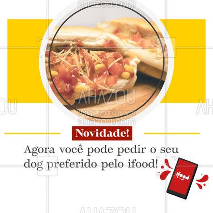 Já pediu??  #ahazoutaste #hotdog #dogao #fastfood #delivery #ifood  #food #hotdoglovers #cachorroquente