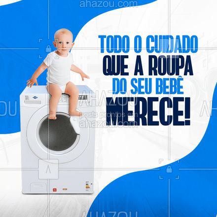 Seu bebê merece um cuidado mais que especial em todos os sentidos, certo? E com as roupinhas dele não seria diferente. ? #AhazouServiços #ahazoubebe #limpeza #roupa