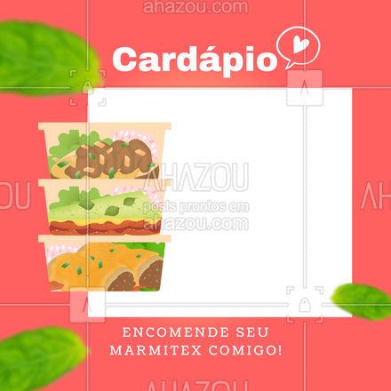 Estamos aceitando encomendas de marmitex! Faça já a sua! #ahazoutaste  #marmitex #comidacaseira #comidadeverdade #marmitas