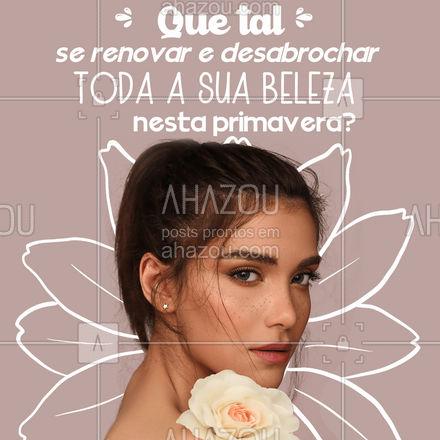 Você merece estar tão linda quanto uma rosa! ?? #AhazouBeauty #estetica #beauty #beleza #primavera #esteticista #autocuidado