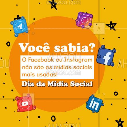 Quem ganha essa competição é o Youtube! Em seguida o Facebook e em terceiro o Whatsapp! Você sabia dessa informação? #socialmedia #redessociais #marketingdigital #mktdigital #marketing #AhazouMktDigital #AhazouMktDigital
