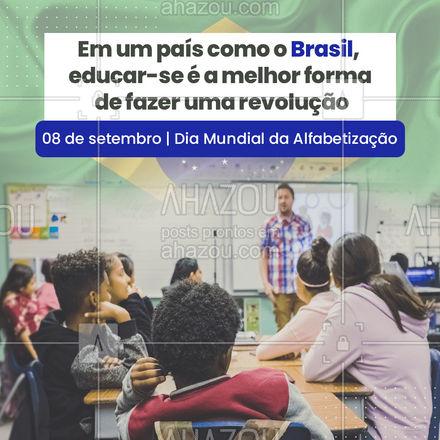 Buscar conhecimento é a maneira mais eficaz de transformar uma condição de desigualdade de direitos. Priorize a educação e ajude a fortalecer a esperança de um país melhor. ??❤️#diamundialdaalfabetizacao #alfabetização #ahazou #sociedade #mundo #futuro