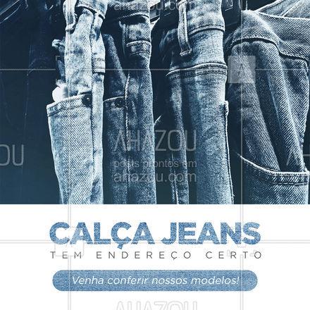 Aproveite para dar uma passada na nossa loja para conferir a variedade de modelos e cores.  ? #AhazouFashion #modaparahomens #modamasculina #menswear #calcajeans #jeansmasculino