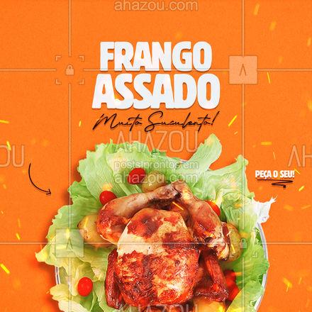 Temos frango assado com muita suculencia esperando por você! Encomende o seu! ? #ahazoutaste #eat #ilovefood #instafood #foodlovers #churrasco #frango #frangoassado #ahazoutaste