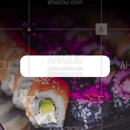 Hmmmm... rodízio de comida japonesa combina com qualquer dia da semana, não é mesmo? Peça já! ?? #ahazoutaste #japa #sushidelivery #sushitime #japanesefood #comidajaponesa #sushilovers