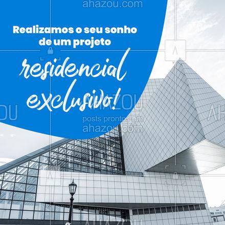 Você imagina e a gente materializa! Sua casa como você nunca viu, com um projeto arquitetônico todo pensado para você! #AhazouDecora, #AhazouArquitetura  #homedecor  #decoracao  #arquitetura  orçamento  #arquiteto  #designdeinteriores