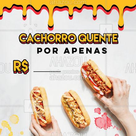 Hoje o hot dog está no precinho! Bora aproveitar? Peça já o seu! #ahazoutaste #hotdog  #hotdoglovers  #hotdoggourmet  #cachorroquente  #food #promoção #precinho #pedido #delivery