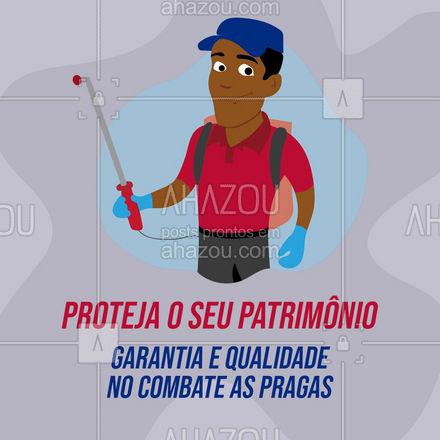 Nós somos o número 1 em qualidade de serviço!? Entre em contato!?  #AhazouServiços #dedetizacao #protecao #combateapragas #pragas #qualidade #convite