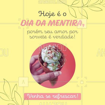 Não tente nos pregar uma peça! Sabemos que você ama nossos variados sabores de sorvete! Então, está esperando o que? Venha e peça o seu favorito! #ahazoutaste  #sorveteria #sorvete #gelados #icecream