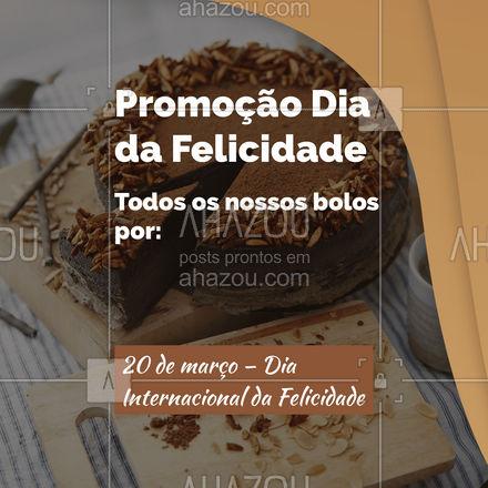 Para completar o seu Dia da felicidade preparamos uma promoção especial para você. Venha conferir! #padaria #pãoquentinho #padariaartesanal #ahazoutaste #cafedamanha #panificadora #bakery #confeitaria