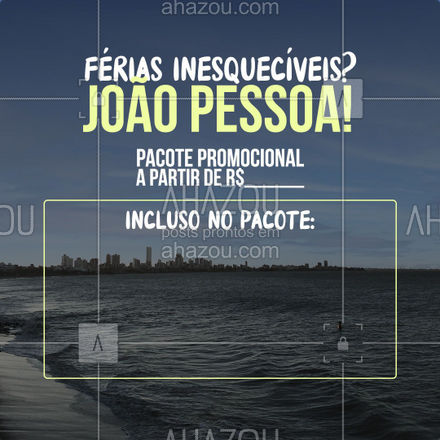 Ir para João Pessoa por esse preço, só com a gente! Entre em contato e faça sua reserva: ?(preencher) #AhazouTravel #viagempelobrasil #agenciadeviagens #viagens #trip #viagem #agentedeviagens #viajar #AhazouTravel