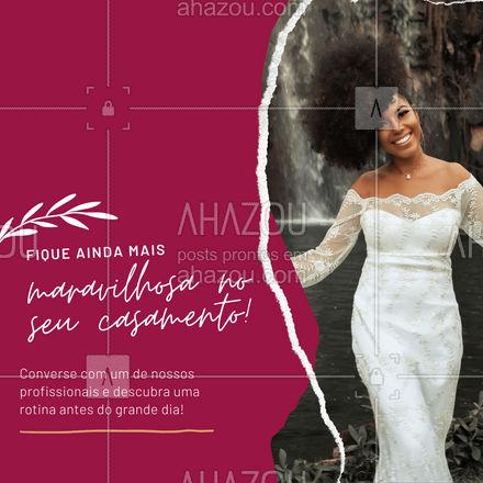 No mês das noivas, nossos profissionais estão prontos para te atender e tornar esse momento ainda mais especial! ❤️ #AhazouBeauty  #bemestar #esteticafacial #limpezadepele #peeling #skincare #saúde #beleza