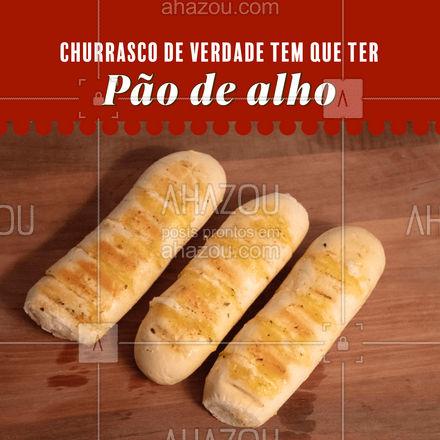 O pão de alho é um clássico do churrasco e aqui você entra o melhor. #churrasco #pãodealho #ahazoutaste #açougue #clássico