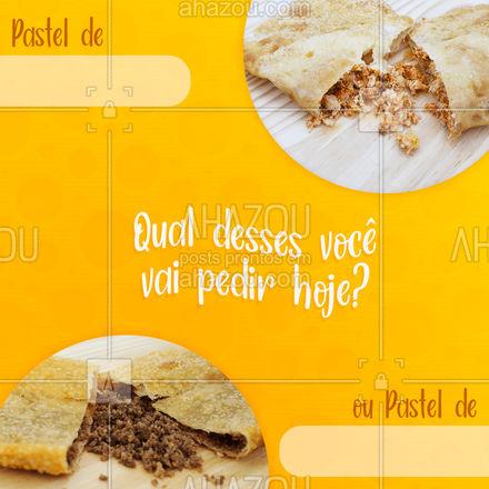 E aproveita para pedir um deles agora no (almoço/jantar?) ?Faça o seu pedido: (inserir contato)   #AhazouTaste #Pastel #Pastelaria #Gastronomia
