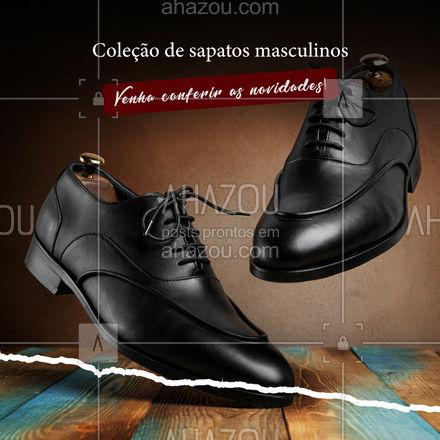 Estamos com uma nova coleção de sapatos masculinos para você aproveitar! Visite-nos e confira. #AhazouFashion #modaparahomens  #fashion  #modamasculina  #style  #menswear  #OOTD