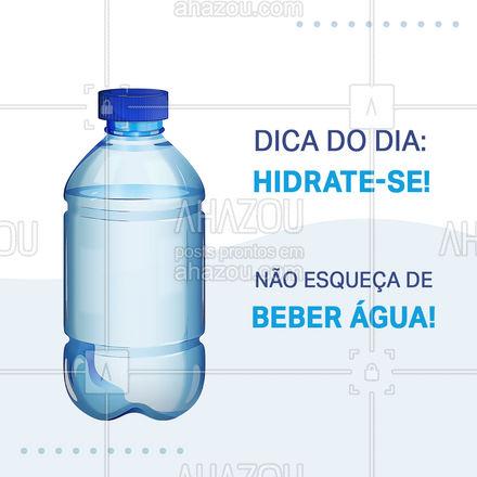 Nessa época de seca é muito importante beber água pra manter seu corpo hidratado. Além disso beber água ajuda a regular a temperatura corporal, elimina as toxinas do corpo e estimula o trânsito intestinal. Então o que você está esperando para beber um copo de água agora? #bebaagua #agua #AhazouSaude #bemestar #saude #qualidadedevida #viverbem #hidratese #dicas