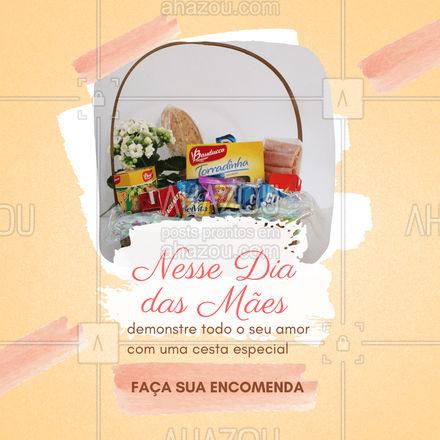 Sua mãe com certeza vai adorar receber uma cesta especial de presente! Confira nossas opções e faça seu pedido: (inserir contato) #cestas #diadasmaes #cafedamanha #ahazoutaste #confeitaria #doces #padaria