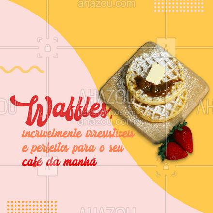 Com nosso delicioso waffle no café da manhã o seu dia não tem começar mal! 🧇🤤#waffles #ahazoutaste #doces #padaria #confeitaria