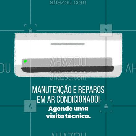 Agende uma visita técnica e não fique na mão! Seu ar condicionado precisa de atenção periódica! #AhazouTec #reparos  #conserto  #consertodeeletronicos  #arcondicionado