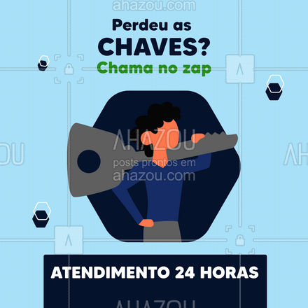 Agora estamos com um serviço delivery! Para te atender a qualquer hora e em qualquer lugar. #AhazouServiços #chaveiro #24horas #delivery
