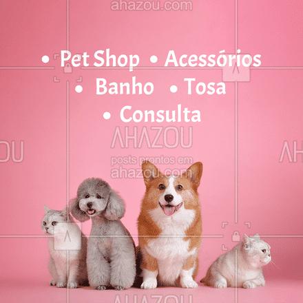 Oferecemos todos os serviços que seu pet necessita.   #AhazouPet  #instapet #petshop #delivery #banhoetosa #tosahigiênica #petshoponline