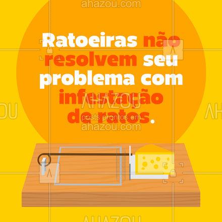 Essas pragas urbanas transmitem doenças, atacam produtos armazenados e danificam a estrutura de fios e cabos! Os ratos se reproduzem rapidamente e, por isso, é preciso resolver o problema direto no ninho com ajuda profissional imediata. #AhazouServiços #dedetizacao #dedetizador #ratos