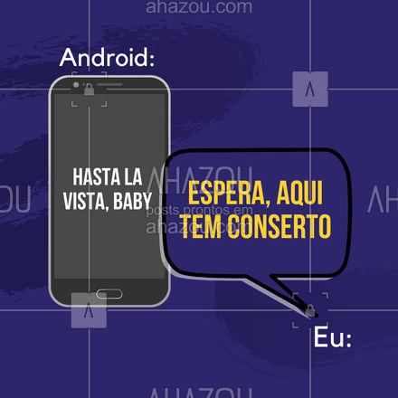 Android com defeito não precise ser descartado. Aqui a gente dá um upgrade nele. ?? #AhazouTec  #exterminadordofuturo #celular #android