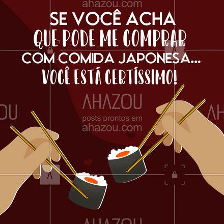 A carne é fraca... Não adianta! ? #ahazoutaste #sushidelivery  #japa  #sushitime  #japanesefood  #comidajaponesa