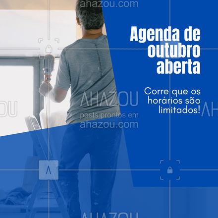 Agenda disputada por quem procura excelência no atendimento e garantia de satisfação 😏 Contrate você também! #AhazouServiços #residencia  #servico  #atendimento  #servicosparacasa  #servicos  #agendamento #agendaaberta