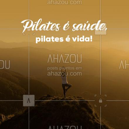 Venha descobrir e se apaixonar pelo pilates você também! #AhazouSaude #pilatesbody #pilates #fitness #pilateslovers #motivacional #frases