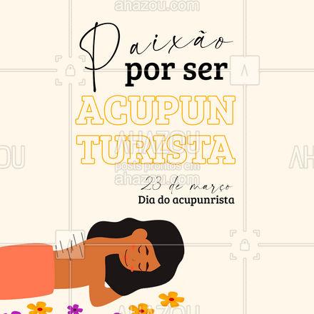 Hoje é o dia desse profissional, que dedica sua vida a cuidar do próximo! ? #acupuntura #acupunturista #AhazouSaude #massoterapia #bemestar #AhazouSaude