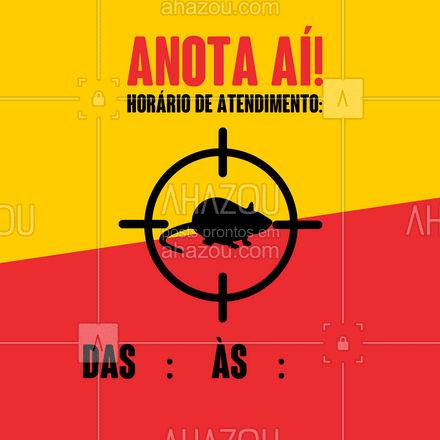 Esse é o meu horário de atendimento! Salve para não esquecer! ? #AhazouServiços #serviços #atendimento #horário #ddt #dedetizador #horáriodeatendimento #confira