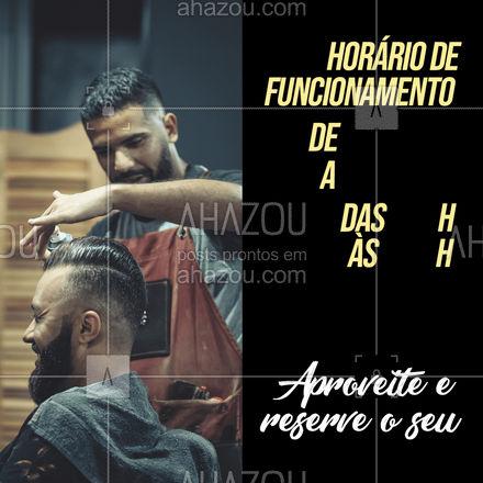 Aproveite nosso horário de atendimento e venha cuidar de você! ?? #AhazouBeauty #barbeirosbrasil #barbearia #barba #cuidadoscomabarba #barberShop #AhazouBeauty