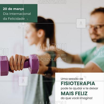 A cada passo, um progresso! Toda melhora é motivo para muita felicidade! #AhazouSaude  #fisioterapeuta #qualidadedevida #fisio #physiotherapy #fisioterapia #diainternacionaldafelicidade
