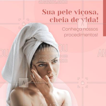 Temos procedimentos que vão deixar a sua pele com muita vida! Venha conhecer nossos procedimentos!✨ #AhazouBeauty #bemestar  #esteticafacial  #limpezadepele  #peeling  #beleza  #saúde  #skincare