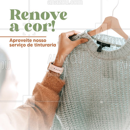 A renovação de tintura que você estava procurando está aqui! Venha até a nossa unidade e renove as suas peças ? #AhazouServiços #tinturaria #roupas #lavanderia #serviços #renovar #desbotado