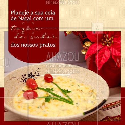 Enfeite a sua mesa com nossos pratos especiais de natal, vem fazer a sua encomenda enquanto temos vagas abertas ? #ahazoutaste #gastronomia #culinaria #ceia #ceiadenatal #natal #ahazoutaste #ahznoel