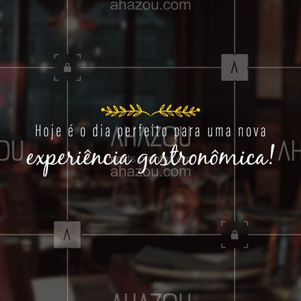 Sempre é bom provar algo novo! Nos conheça e tenha uma nova experiência gastronômica deliciosa hoje <3 #ahazoutaste #colorahz # #gastronomy #gastronomia #foodlover #ahazoutaste