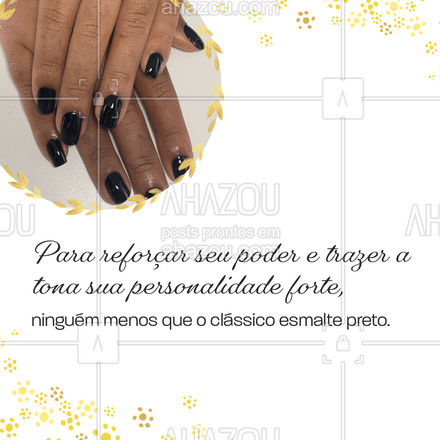 Quer dicas de cores de esmaltes para cada ocasião? Arraste para o lado para conferir. #outonoinverno #tendencia #AhazouBeauty #unhas #manicure #pedicure #nailart