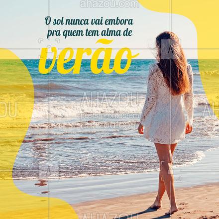 Pra quem é feliz, toda estação é verão ☀️? #frasesdepraia #frases #AhazouFashion  #moda #modapraia #summer #praia #beach #verão