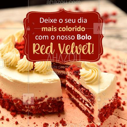 Lindo e com um sabor sem igual, venha experimentar! ???  #BoloRedVelvet #RedVelvet #bolos #ahazoutaste  #confeitaria #bolosdecorados