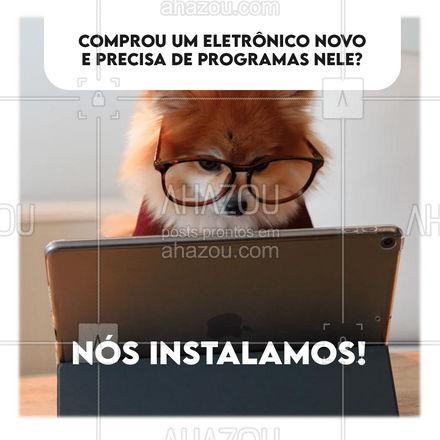Eletrônico novo e sem nenhum programa? Nós fazemos a instalação deles para você. #instalação #programas #convite #AhazouTec #assistenciatecnica #assistencia