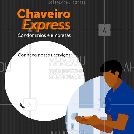 Precisando de atendimento de chaveiro? ? É só ligar que a gente chega rapidinho!  #AhazouServiços  #chave #chaveiro #serviços #convite