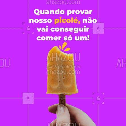 Nosso picolé é tão bom, que com certeza você vai querer repetir! #ahazoutaste  #sorveteria  #açaí #gelados #sorvete