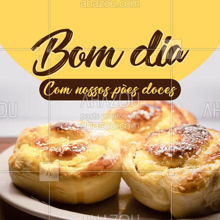 Para o seu dia começar especial, só com os nossos pães doces! - Bom dia ☀️  #ahazoutaste #bomdia #paodoce  #padaria #pãoquentinho #padariaartesanal #confeitaria #panificadora #bakery #cafedamanha