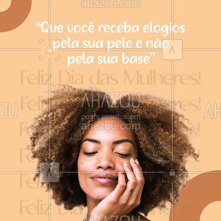 Toda mulher ama receber um elogio, melhor ainda quando o elogio é sobre como sua pele esta linda e radiante! Entre em contato, agende o seu horário, e receba muitos elogios. #bemestar #esteticafacial #limpezadepele #peeling #AhazouBeauty #beleza #saúde #skincare #diadamulher #diadasmulheres #AhazouBeauty
