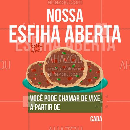 Mano do céu, que esfiha sensacional! Já pede a sua: ? (preencher) #ahazoutaste  #pizzaria #eat #foodlovers #instafood #ilovefood #esfiha #esfihaaberta